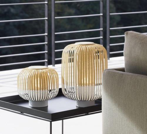 luminaire forestier Frais Lampe † poser Bamboo Light S blanc